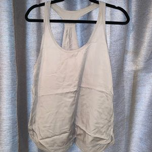 Lululemon light gray tank top